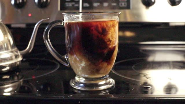 Adding Rich Cream into Coffee