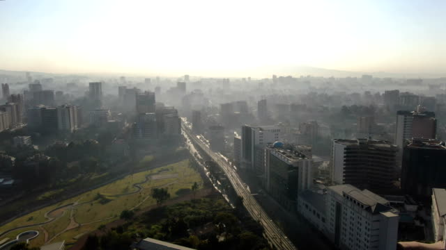addis ababa city center/ aerial view - horn of africa stock videos & royalty-free footage
