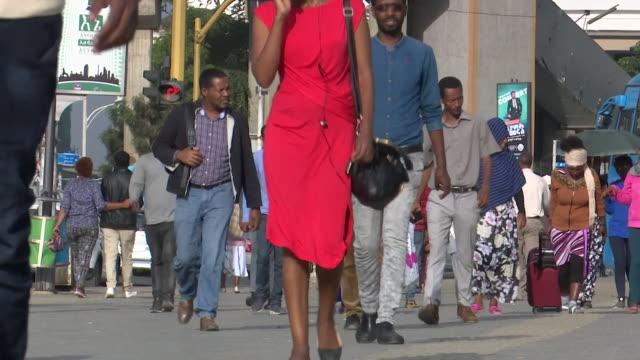 addis ababa city street scenes - ethiopia stock videos & royalty-free footage