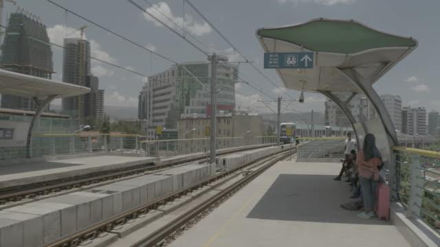addis ababa light rail station - アジスアベバ点の映像素材/bロール