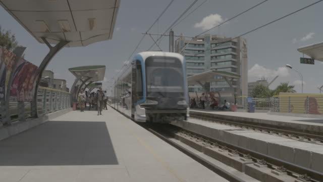 addis ababa light rail station - horn von afrika stock-videos und b-roll-filmmaterial