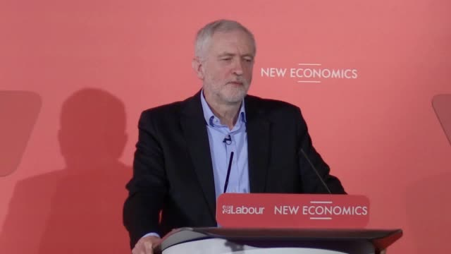 addressing a labour conference of alternative methods of ownership jeremy corbyn criticises michael gove and donald trump's response to environmental... - climate finance stock videos & royalty-free footage