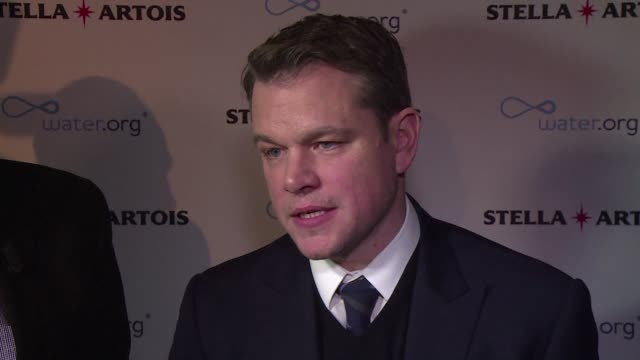 Addressing world leaders at Davos American actor Matt Damon calls for action to ensure everyone around the world has access to clean water insisting...