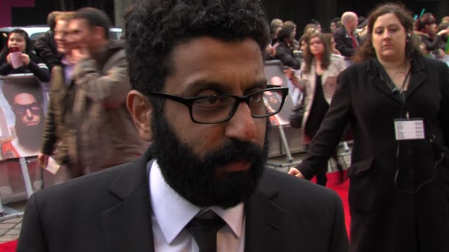 adeel akhtar on his character, working with sacha baron cohen at the dictator: world premiere at the royal festival hall on may 10, 2012 in london,... - royal festival hall stock videos & royalty-free footage