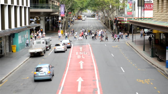 adelaide street in brisbane - pedestrian stock videos & royalty-free footage