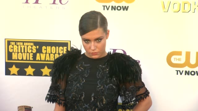 Adele Exarchopoulos at 19th Annual Critics' Choice Movie Awards Arrivals at The Barker Hanger on in Santa Monica California