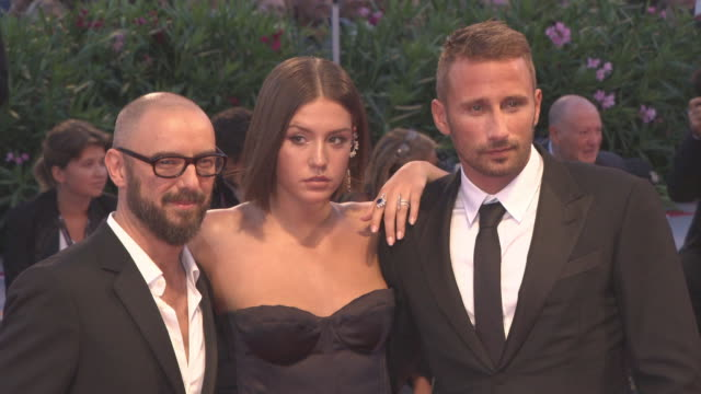 Adele Exarchopoulos Matthias Schoenaerts Michael RRoskam at 'Racer and the Jailbird' Red Carpet 74th Venice International Film Festival at Palazzo...