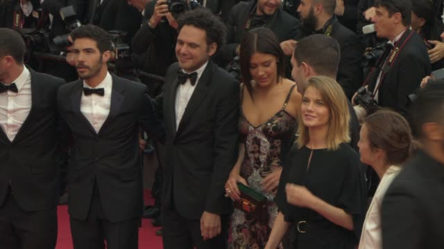 adele exarchopoulos tahar rahim at 'irrational man' red carpet at palais des festivals on may 15 2015 in cannes france - cannes video stock e b–roll