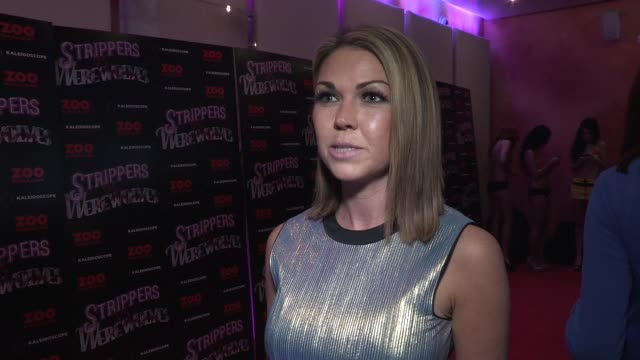 Adele Silva on film being very British at Strippers vs Werewolves World Premiere at Apollo Piccadilly Circus on April 24 2012 in London England
