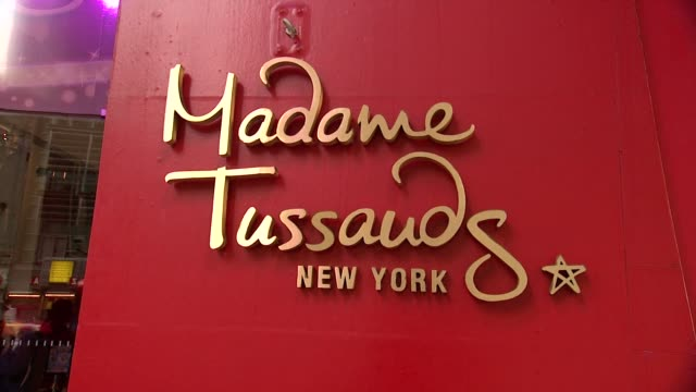 adele wax figure unveiling at madame tussaud's at madame tussauds on february 19, 2014 in new york city. - madame tussauds stock videos & royalty-free footage