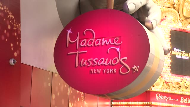 atmosphere adele wax figure unveiling at madame tussaud's at madame tussauds on february 19 2014 in new york city - madame tussauds stock videos & royalty-free footage