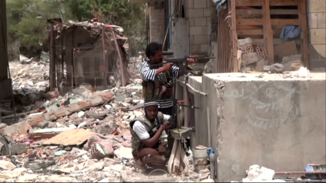 aden dar saad clashes fighting - aden stock videos & royalty-free footage