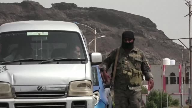 aden locals claim life is back to normal as fighters of the uae trained security belt force dominated by backers of the the southern transitional... - aden stock videos & royalty-free footage