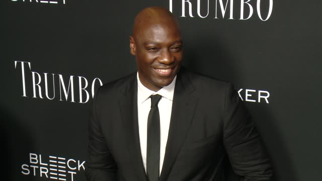adewale akinnuoyeagbaje at the trumbo los angeles premiere at the academy of motion picture arts and sciences on october 27 2015 in beverly hills... - academy of motion picture arts and sciences stock-videos und b-roll-filmmaterial