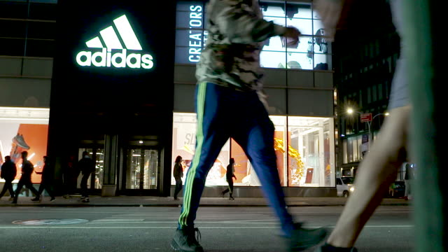adidas flagship store in downtown manhattan looted. the george floyd protest turns into a riot. garbage was burned and stores were looted in the soho... - looting stock videos & royalty-free footage
