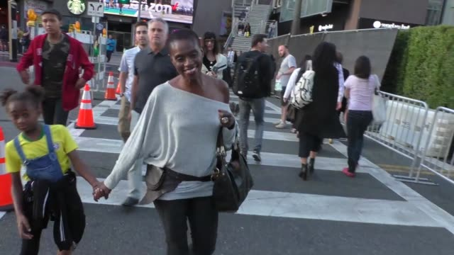adina porter arrives at the maleficent - mistress of evil premiere at el capitan theatre in hollywood in celebrity sightings in los angeles, - el capitan theatre stock videos & royalty-free footage