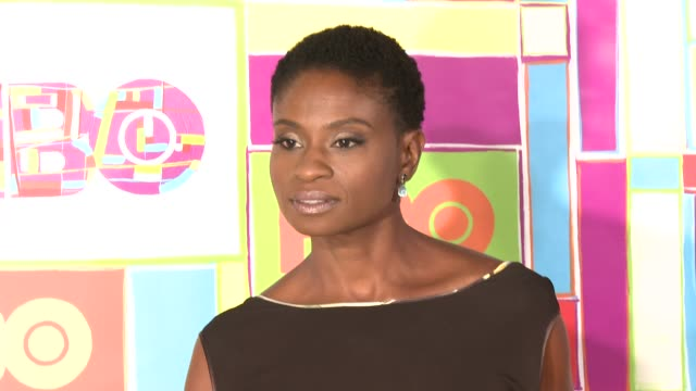 vídeos y material grabado en eventos de stock de adina porter at hbo's official 2014 emmy after party at the plaza at the pacific design center on august 25 2014 in los angeles california - premios emmy