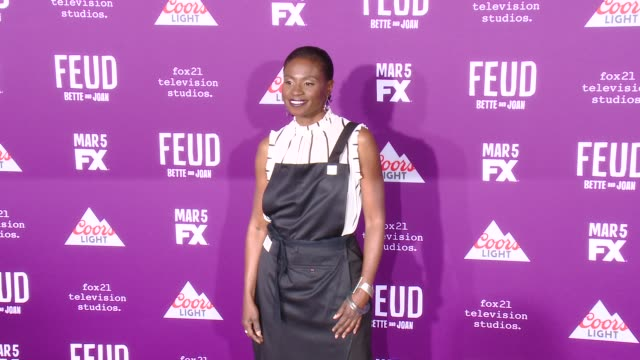 """adina porter at premiere of fx network's """"feud: bette and joan"""" in los angeles, ca 3/1/17 - fx network stock videos & royalty-free footage"""