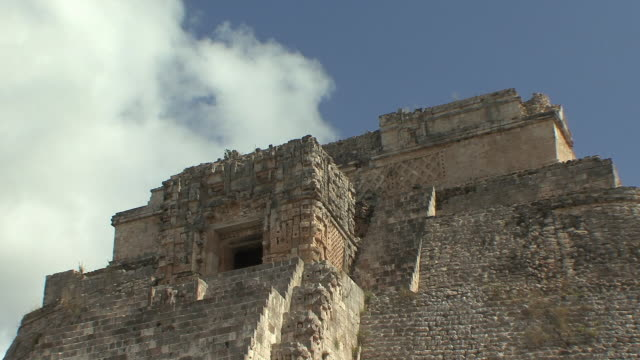 ms la adivino (pyramid of magician) at pre-columbian ruined city of maya civilization / uxmal, yucatan, mexico - pre columbian stock videos & royalty-free footage