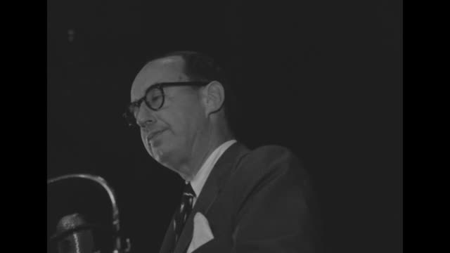 vs adlai stevenson democratic party presidential candidate speaks from stage of arena to packed crowd of supporters - adlai stevenson ii stock videos and b-roll footage