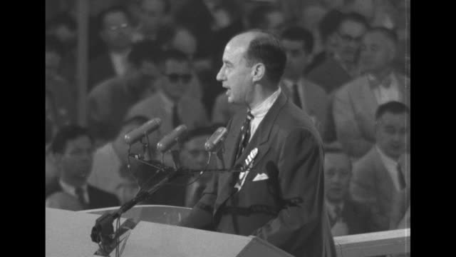 i thought i came here to greet you not you to greet me i'm grateful for your courtesy but i have as assignment this morning as governor of the host... - adlai stevenson ii stock videos and b-roll footage