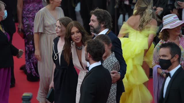 """adèle exarchopoulos attends the """"de son vivant """" screening during the 74th annual cannes film festival on july 10, 2021 in cannes, france. - cannes stock videos & royalty-free footage"""