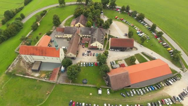 adlersberg monastery hill in bavaria near regensburg - food and drink stock videos & royalty-free footage