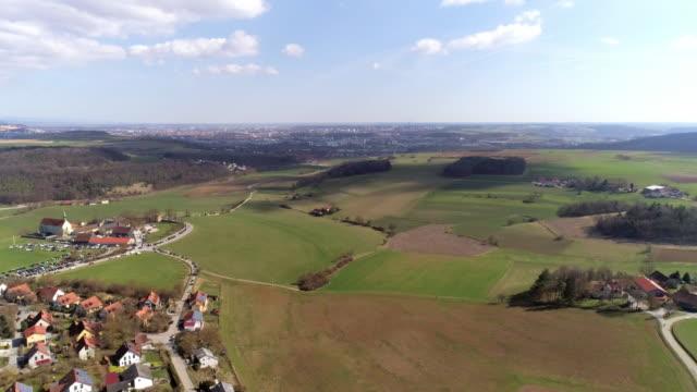 adlersberg monastery village and regensburg from the northwest - regensburg stock videos & royalty-free footage