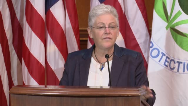 administrator gina mccarthy announces new rules on carbon emissions, aimed at climate change and improving the environment. . obama administration... - rules stock videos & royalty-free footage