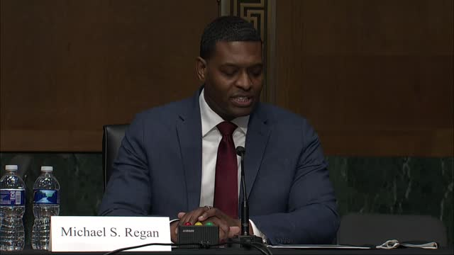 administrator of environmental protection agency nominee michael regan tells senate environment and public works committee at nomination hearing in... - nomination stock videos & royalty-free footage