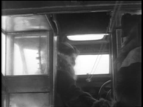 admiral byrd shaking hands with pilot in airplane cockpit / flight over south pole - 1929 stock videos and b-roll footage