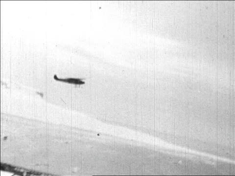 admiral byrd's airplane taking off in flight over north pole / newsreel - 1926 stock videos & royalty-free footage