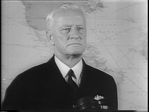 admiral chester nimitz standing in front of map and speaking about the war with japan - tropical bush stock videos and b-roll footage