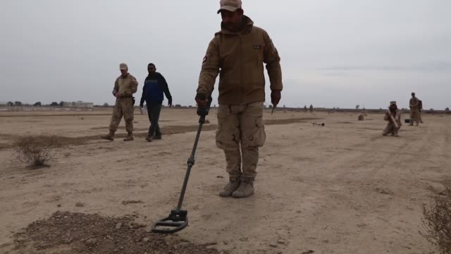 admiral james foggo commander of allied joint force command naples recently visited iraq to inspect the nato training activity at the explosive... - disposal stock videos and b-roll footage