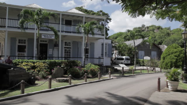 admiral's house & museum, nelson's dockyard, st paul, antigua & barbuda, carribean  - admiral nelson stock videos and b-roll footage