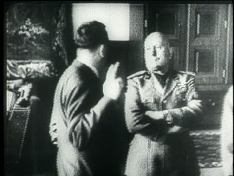 adolf hitler and benito mussolini speak together and look at a map. - 1945 stock videos & royalty-free footage