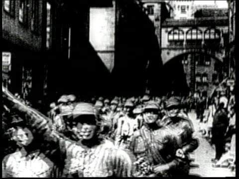 adolf hitler becomes the leader for the rising nazi movement in germany - 1930 stock-videos und b-roll-filmmaterial