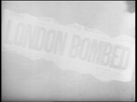 adolf hitler, explosion, newspaper headline: london bombed - one mid adult man only stock videos & royalty-free footage