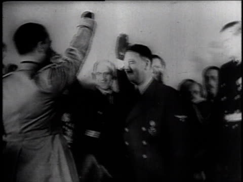 adolf hitler shaking hands with hermann goering and exchanging salutes / germany - axis powers stock videos & royalty-free footage