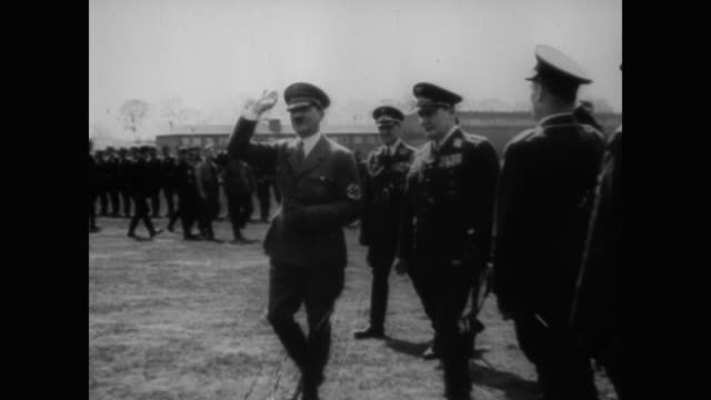 adolf hitler speaks to the reichstag about the battle for britain before hermann goering works with hitler to reevaluate plans, sending bombers... - rede stock-videos und b-roll-filmmaterial