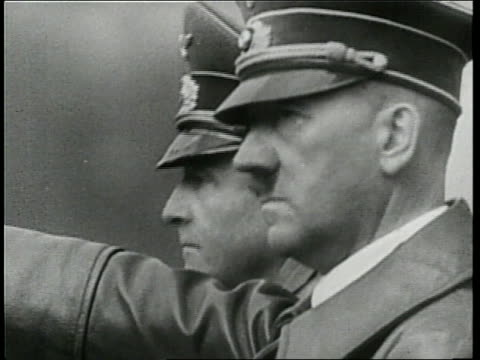 adolf hitler talks to a nazi officer during world war ii - former soviet union stock videos & royalty-free footage