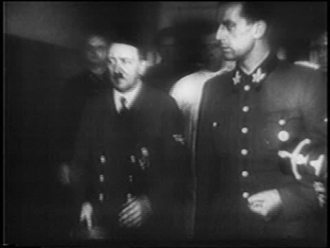 adolf hitler walking with officials in last days before death / newsreel - 1945 stock videos & royalty-free footage