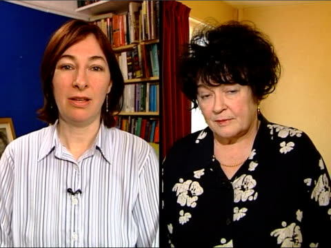 new guidelines on tracing children/parents itn cath staincliffe / patricia basquill interviewed sot basquill sitting looking thru documents patricia... - durchpausen stock-videos und b-roll-filmmaterial