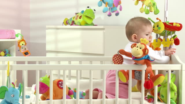 HD: Adorable Baby In Crib