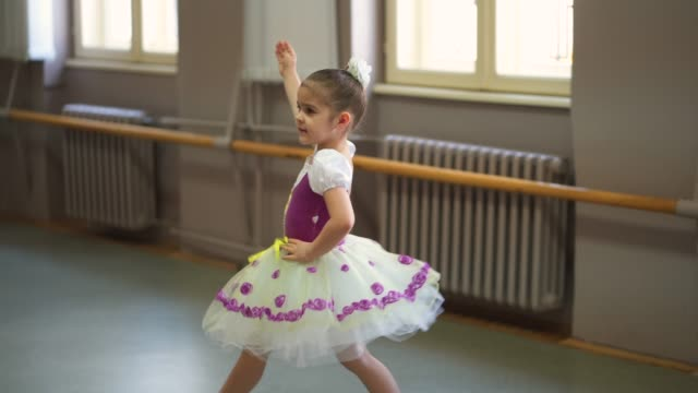adorable little ballerina - tutu stock videos and b-roll footage
