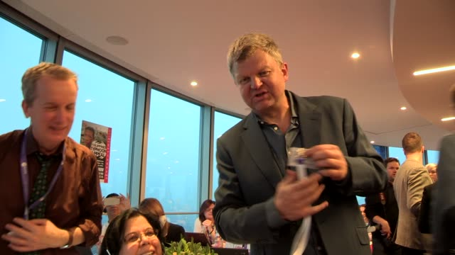 adrian chiles at dec philippines typhoon appeal at the bt tower on november 18, 2013 in london, england - adrian chiles video stock e b–roll