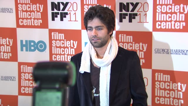 Adrian Grenier at the 49th Annual New York Film Festival 'George Harrison Living In The Material World' at New York NY