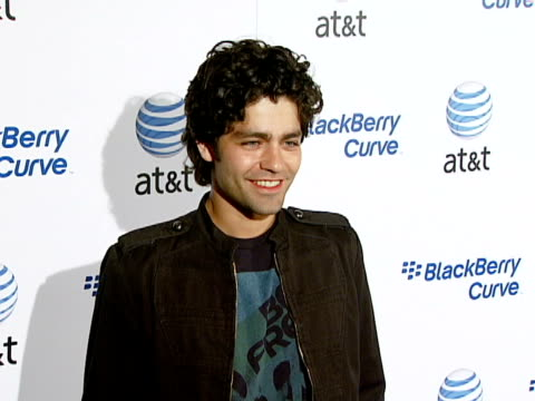 adrian grenier at the blackberry curve from at&t u.s. launch party at beverly hills california. - curve stock videos & royalty-free footage