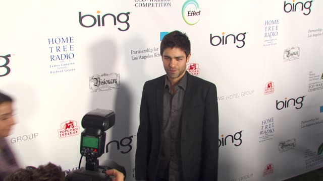Adrian Grenier at the James Cameron Hosts StarStudded Green Carpet VIP Reception For Earth Day at Los Angeles CA