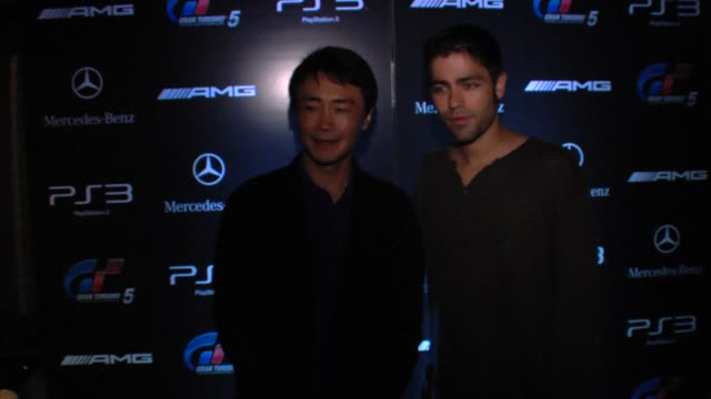Adrian Grenier at the MercedesBenz Exclusive Preview Of The 2011 SLS AMG In Grand Turismo 5 at Los Angeles CA